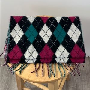 Softer than cashmere argyle scarf